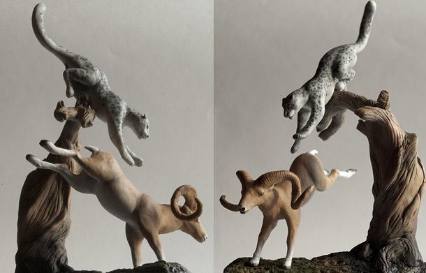 Скульптура: Архар и Барс