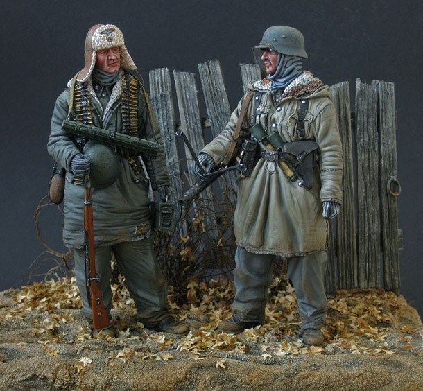 Фигурки: Пулеметный расчет дивизии SS Totenkopf, 1943-44
