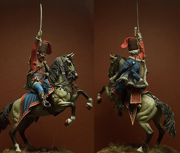 Фигурки: Прусский офицер 2-го полка гусар, 1762г.