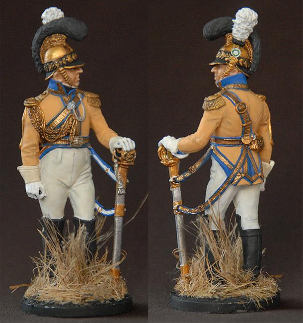 Фигурки: Офицер полка «Guadre du Coeur», Саксония, 1810-13 гг.