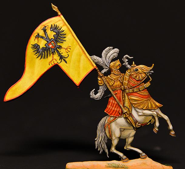 Фигурки: Немецкие рыцари, XVI век.