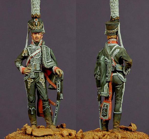 Фигурки: Обер-офицер Александрийского гусарского полка, 1809-11 гг.