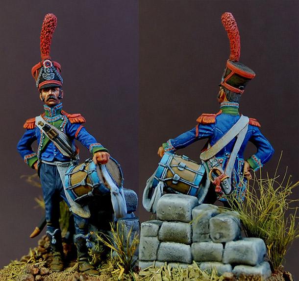 Фигурки: Барабанщик карабинеров 8-го легкого полка, Франция
