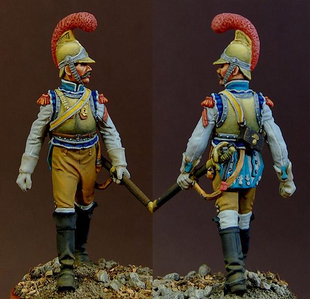Фигурки: Рядовой карабинерного полка, Франция, 1812