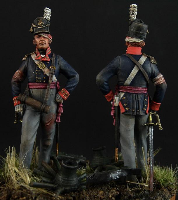 Фигурки: Британский офицер пешей артиллерии