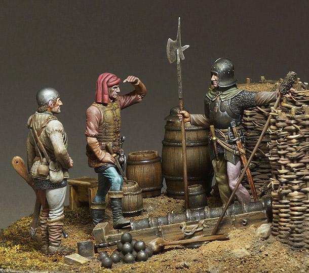 Диорамы и виньетки: Артиллеристы, XVв.