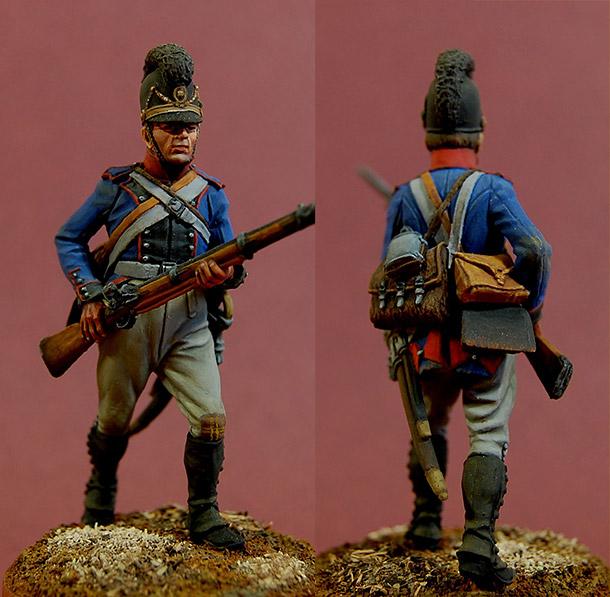 Фигурки:  Рядовой 13-го линейного полка, Бавария, 1805-07