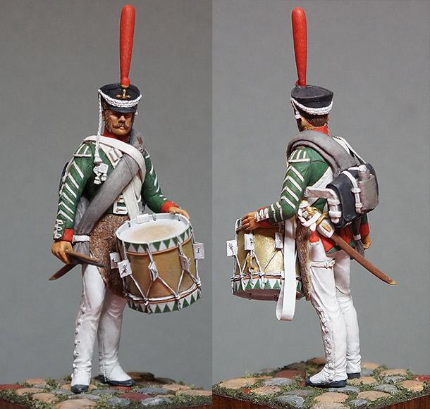 Фигурки: Ротный барабанщик гренадерских полков, 1812-17
