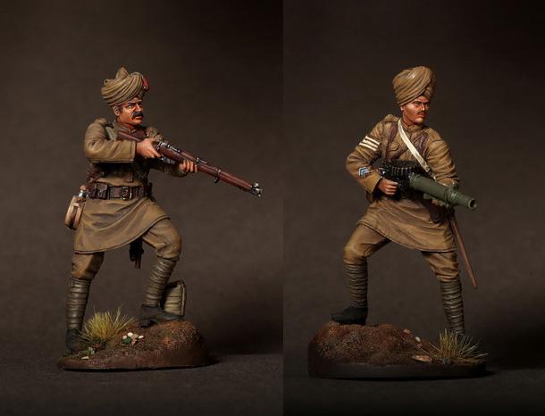 Фигурки: Индийские солдаты 1916-18 г.