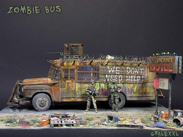 Диорамы и виньетки: Zombie Bus
