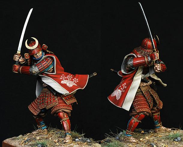 Фигурки: Самурай в полном снаряжении