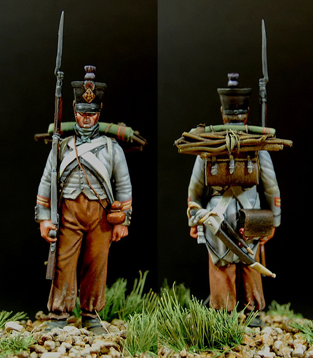 Фигурки: Сержант 15-го полка, Франция. Испанская кампания, 1808