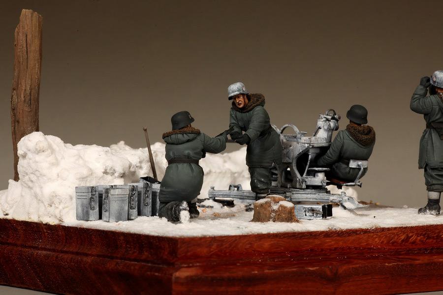 Диорамы и виньетки: Расчёт зенитчиков Flak-38, СС, фото #23