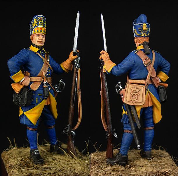 Фигурки: Шведский гренадер полка Меллина