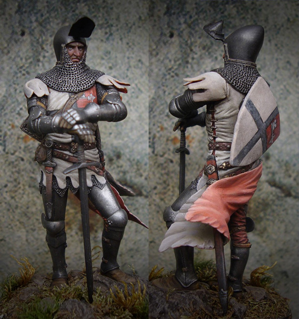 Фигурки: Тевтонский рыцарь, XIV век