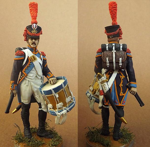 Фигурки: Барабанщик гренадерской роты 57-го линейного полка. Франция, 1809-12 гг.