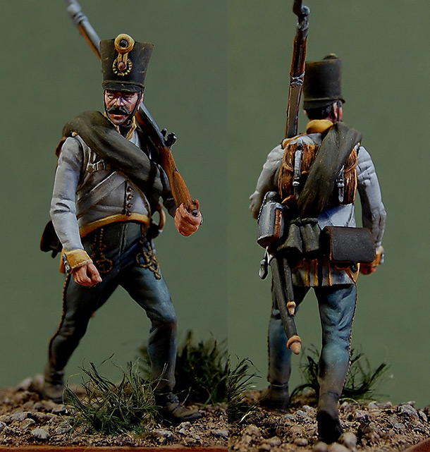 Фигурки: Фузилер 2 полка Hiller, Австрия, 1812