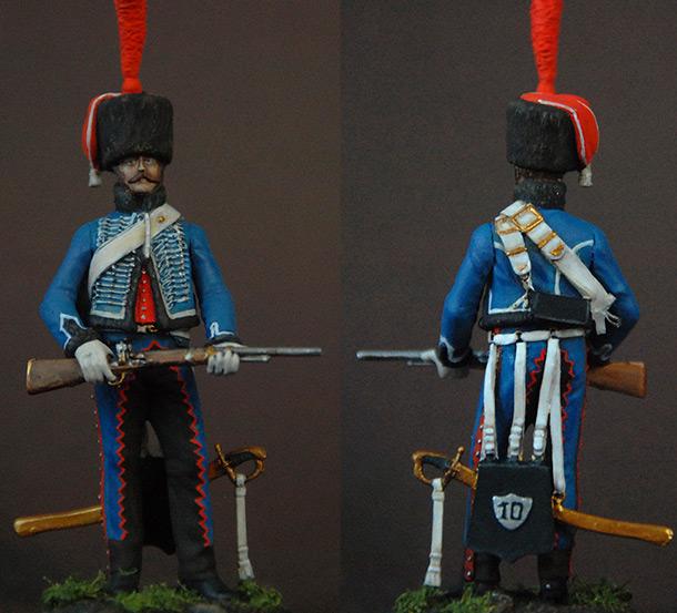 Фигурки: Французский гусар элитной роты 8-го полка, 1808