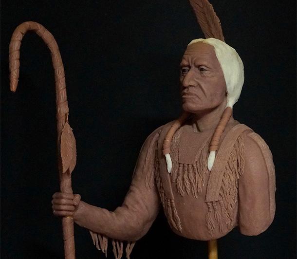 Скульптура: Индеец сиу