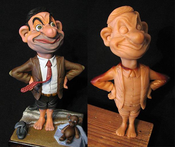Скульптура: Мистер Бин на отдыхе