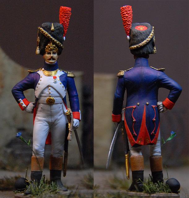 Фигурки: Французский офицер пеших гренадеров Гвардии. 1809