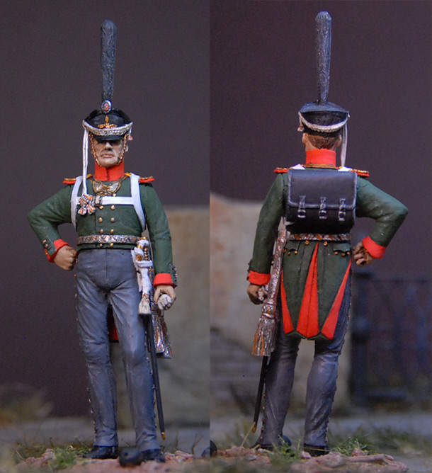 Фигурки: Обер-офицер, Селенгинский пехотный полк. 1812 г.
