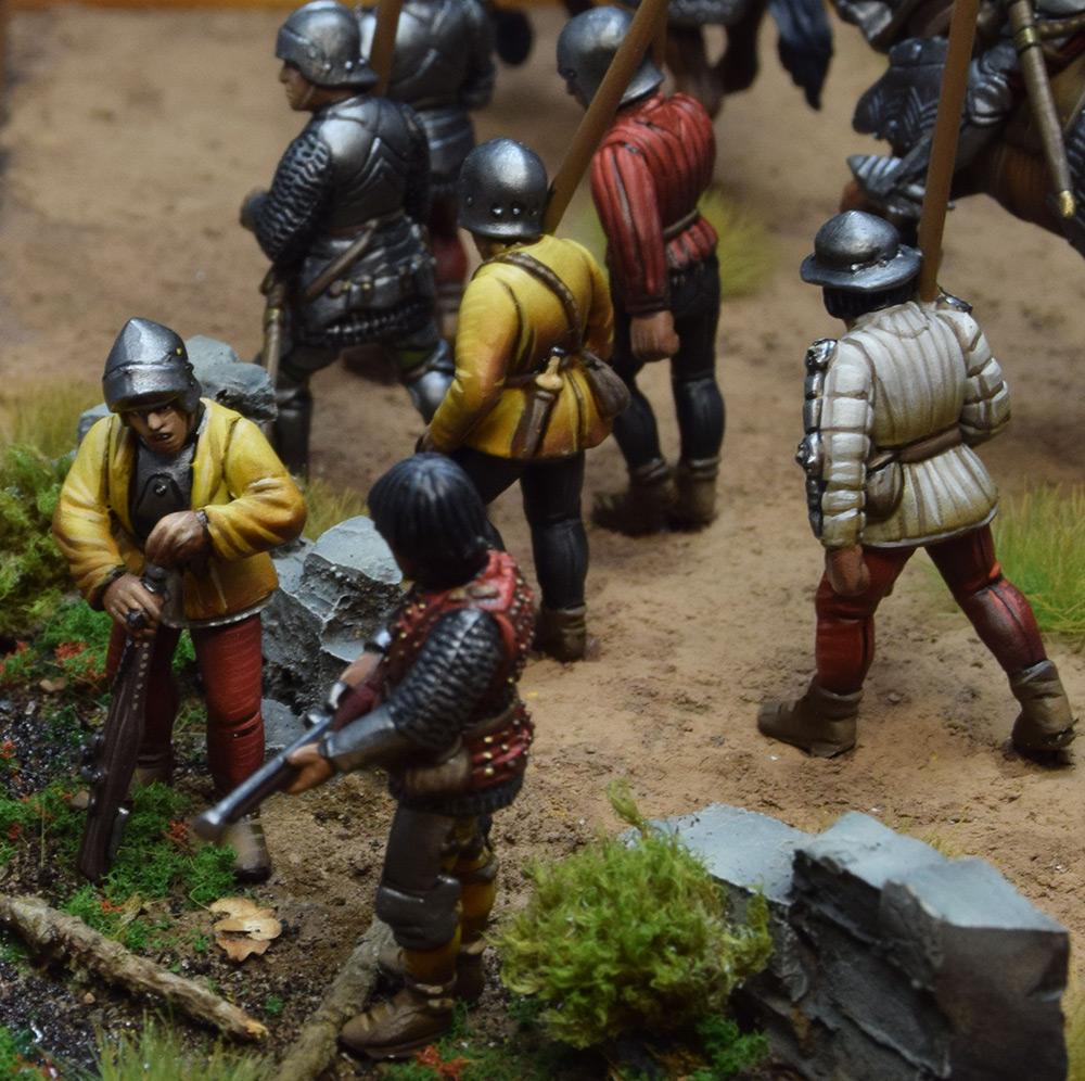 Диорамы и виньетки: Средневековые солдаты на марше, фото #9