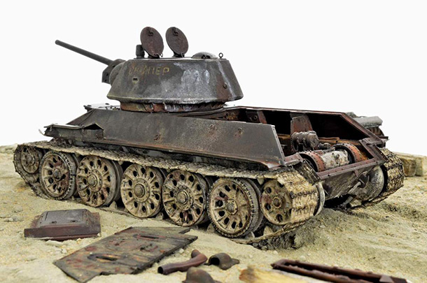 Диорамы и виньетки: Т-34/76 «Снайпер», 1942-2003