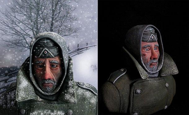 Фигурки: Военнопленный, зима 1941 г.