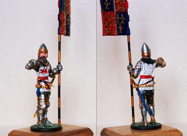 Фигурки: Английский рыцарь со знаменем