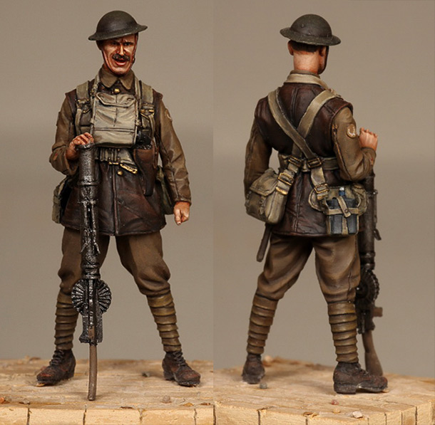Фигурки: Английский пулемётчик, WWI