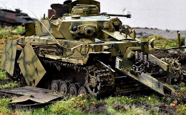 Диорамы и виньетки: Pz.Kpfw. IV Ausf. G, или пламенный привет от «Зверобоя»