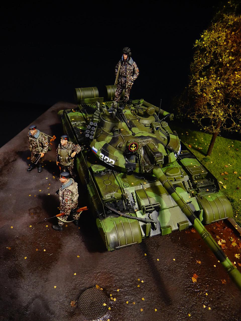 Диорамы и виньетки: Т-55АМ морской пехоты, фото #5