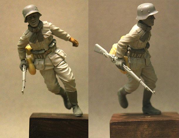 Скульптура: Немецкий солдат в Сталинграде,