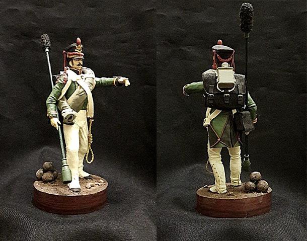 Скульптура: Бомбардир пешей артиллерии. Россия 1812 г.