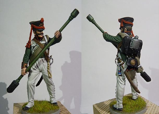 Фигурки: Бомбардир 12-й лёгкой роты 7-й артиллерийской бригады, 1812
