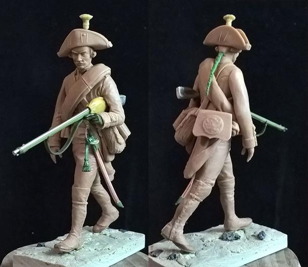 Скульптура: Рядовой мушкетерских полков. Россия, 1799 год.