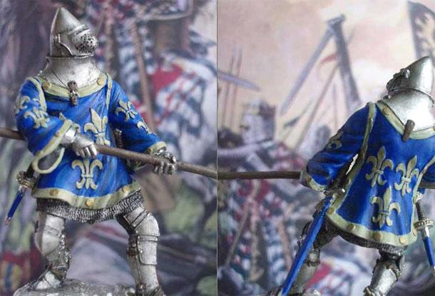 Фигурки: Французский рыцарь, XIV век