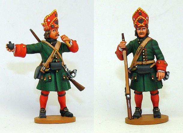 Фигурки: Русские гренадеры, Великая Северная война