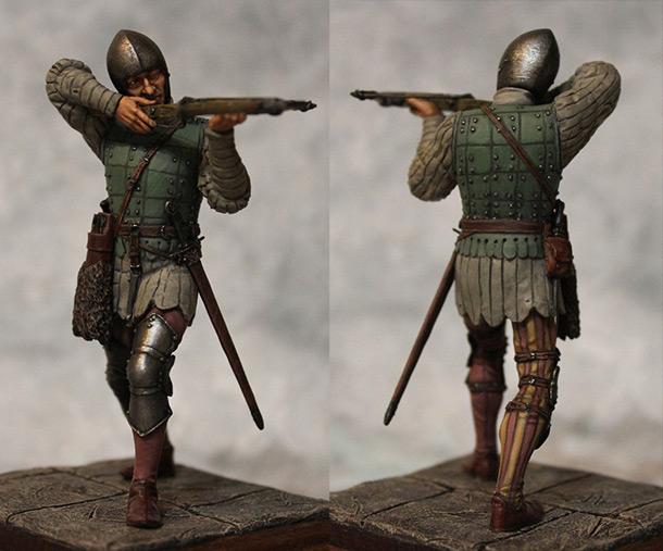 Фигурки: Французский арбалетчик, XV в.