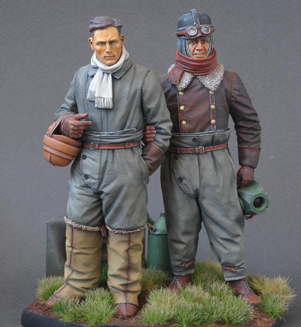 Фигурки: Германские летчики Первой Мировой войны