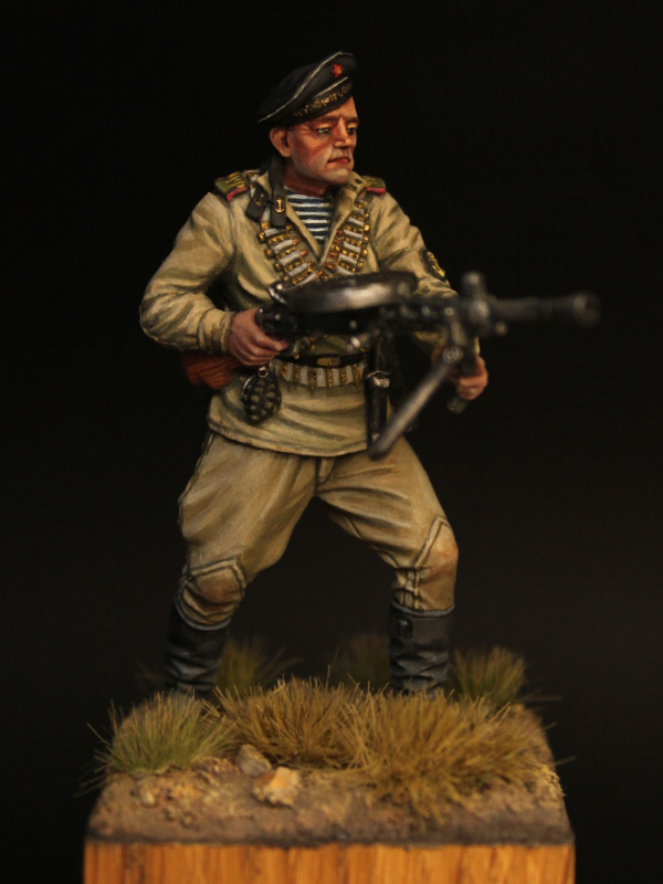 Фигурки: Пулеметчик ОБМП ЧФ, 1943-44 гг., фото #1