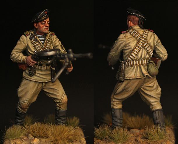 Фигурки: Пулеметчик ОБМП ЧФ, 1943-44 гг.