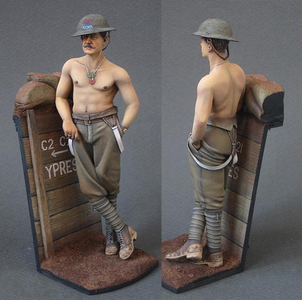 Фигурки: Артиллерист канадской королевской конной артиллерии, 1916г.