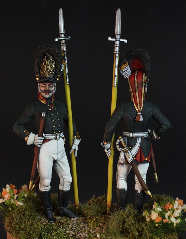 Фигурки: Унтер-офицер 2-го батальона Лейб-гвардии Преображенского полка, 1802 г.
