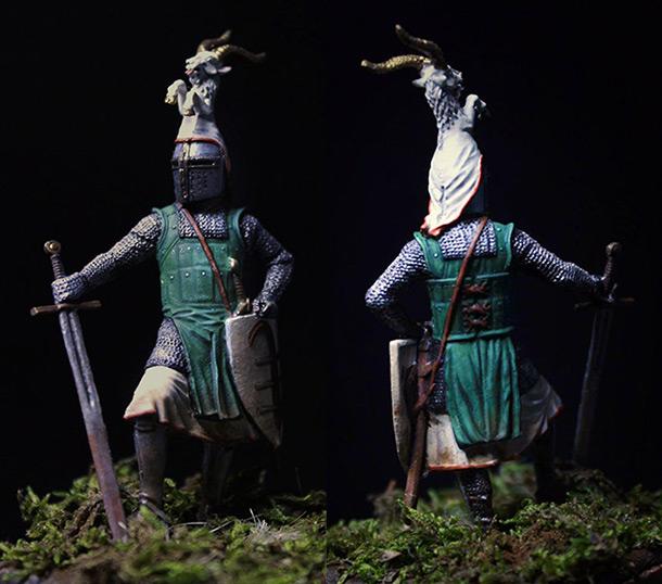 Фигурки: Германский рыцарь второй половины XIII в.