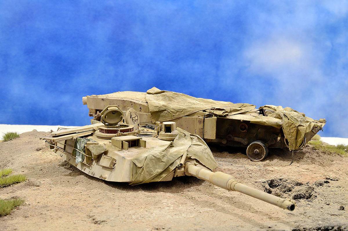 Диорамы и виньетки:  М1А2 Abrams. Башню снесло, фото #1
