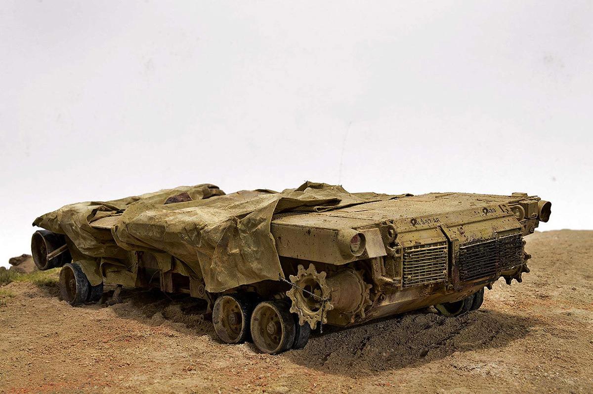 Диорамы и виньетки:  М1А2 Abrams. Башню снесло, фото #10