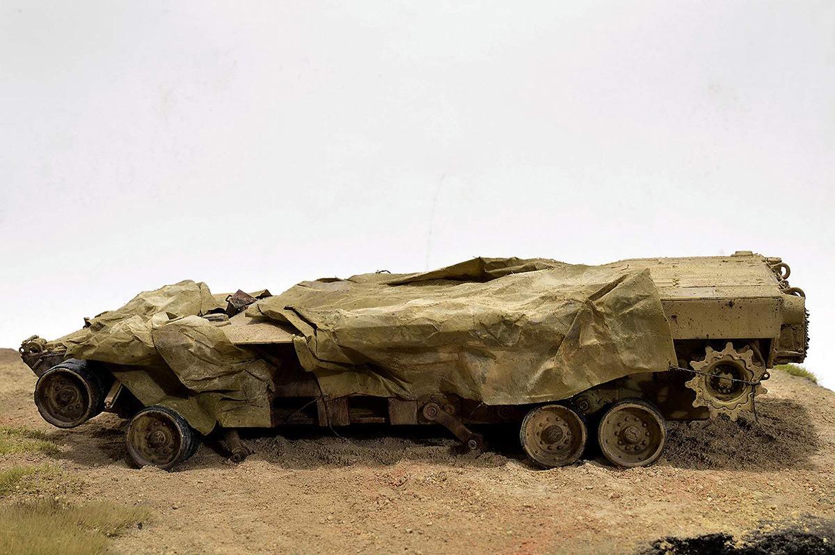 Диорамы и виньетки:  М1А2 Abrams. Башню снесло, фото #11