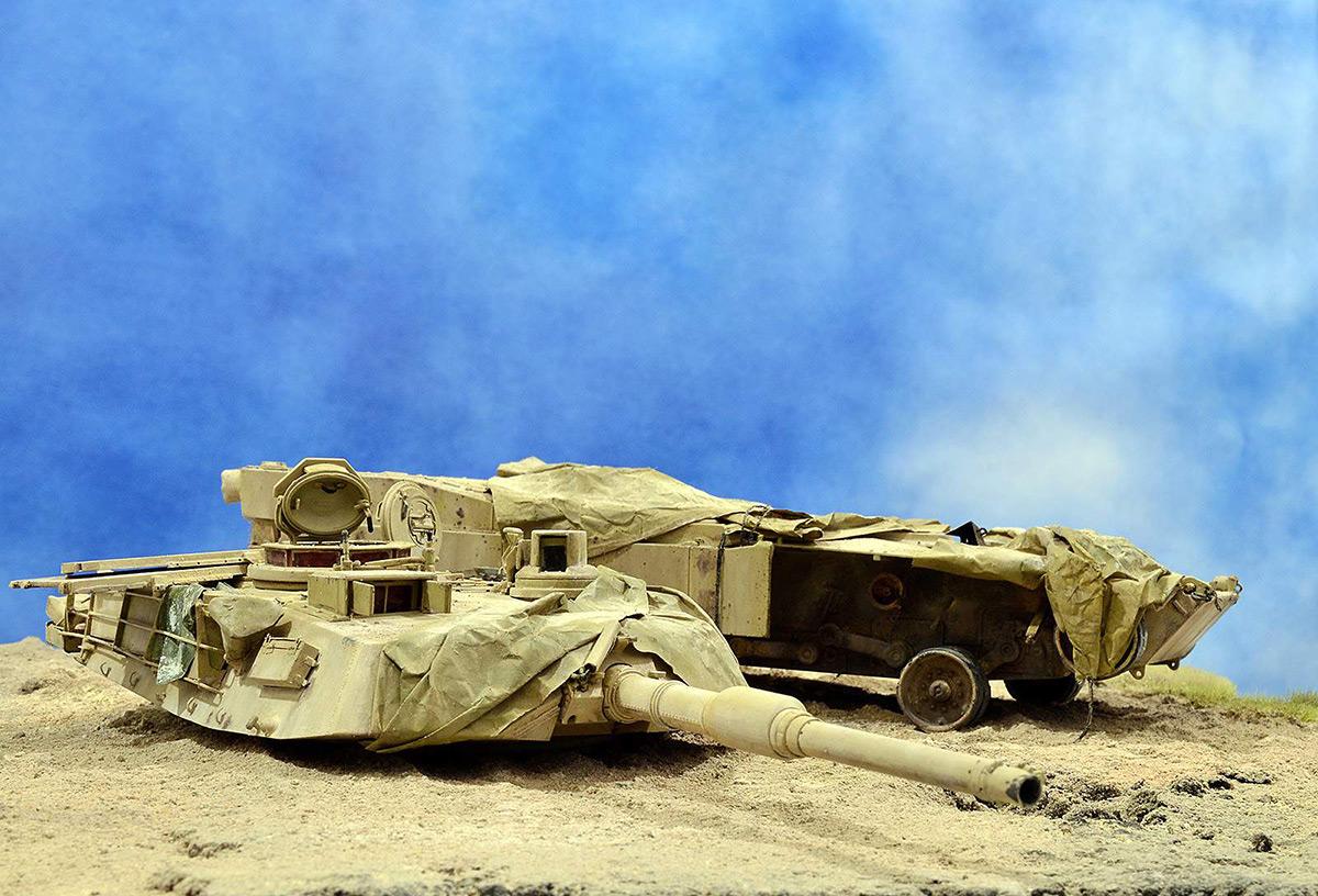 Диорамы и виньетки:  М1А2 Abrams. Башню снесло, фото #12